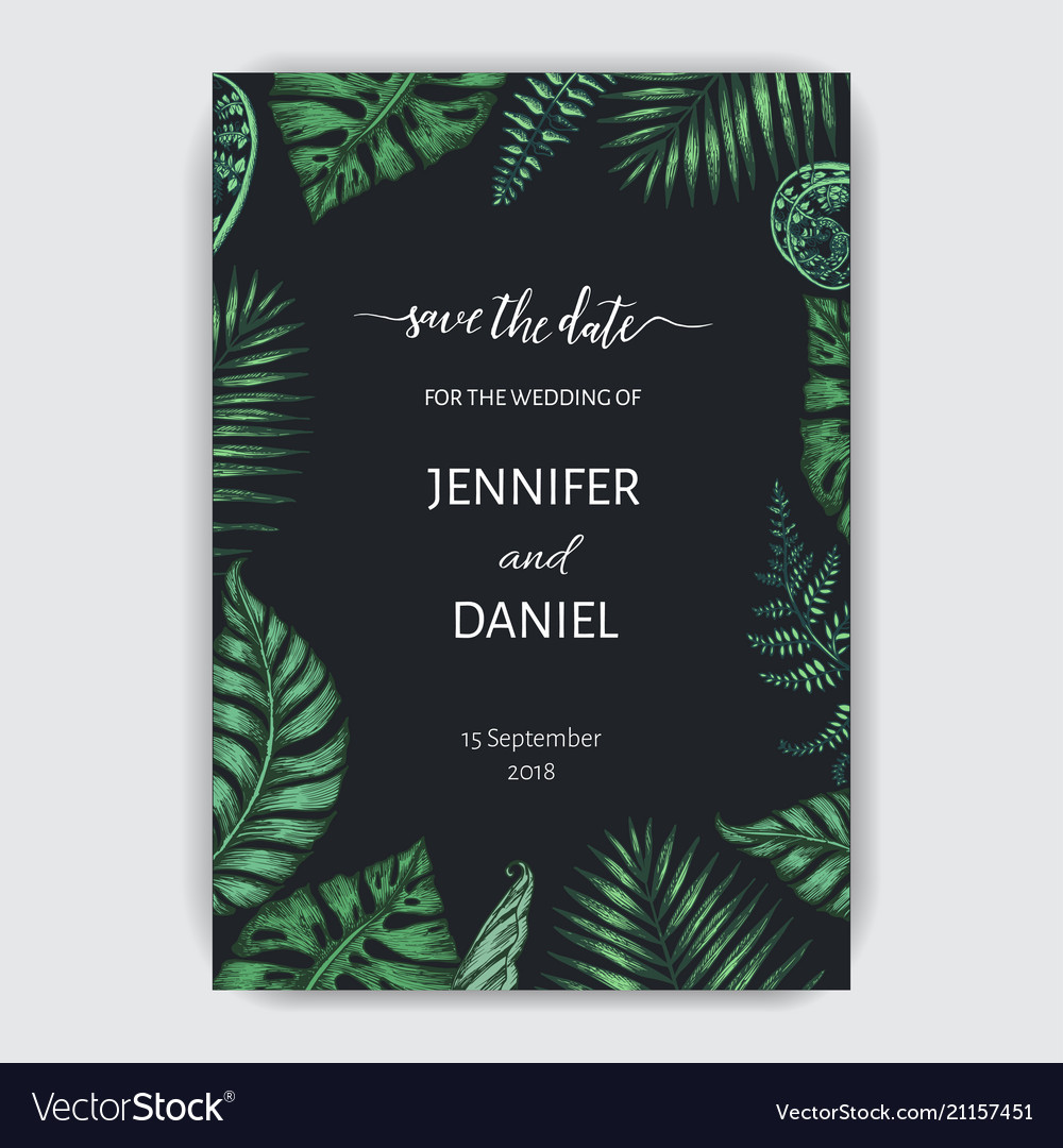 Template for wedding invitation with