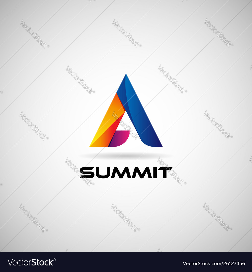 Abstract colorful geometric triangle logo sign