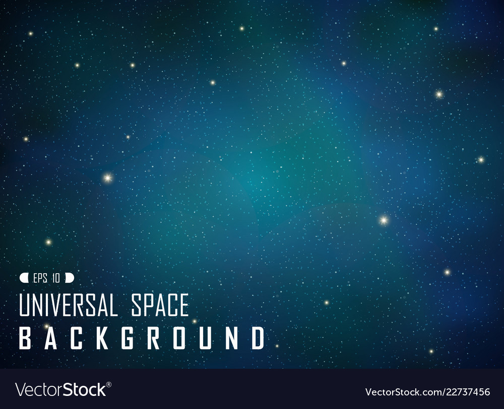 Abstract of dark realistic blue galaxy background