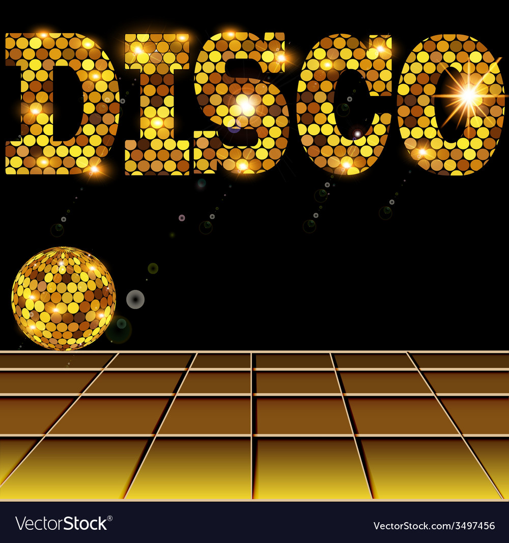 Background with golden disco