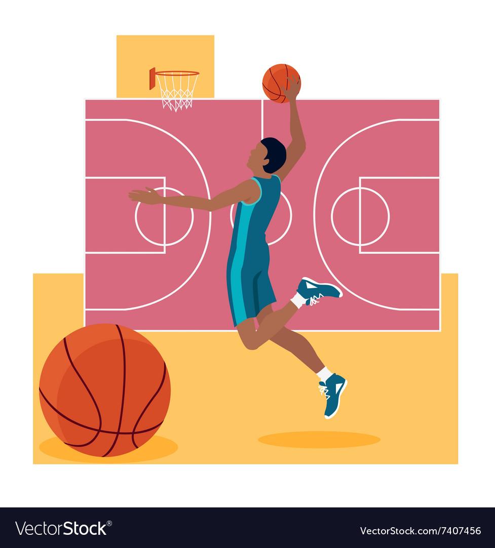 Basketball Sport Team Concept Icon Flat Design