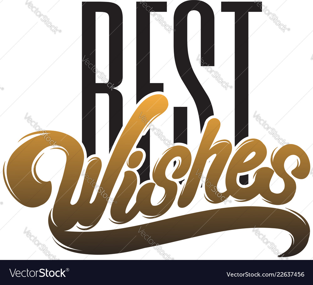 Best wishes handwritten lettering isolated type
