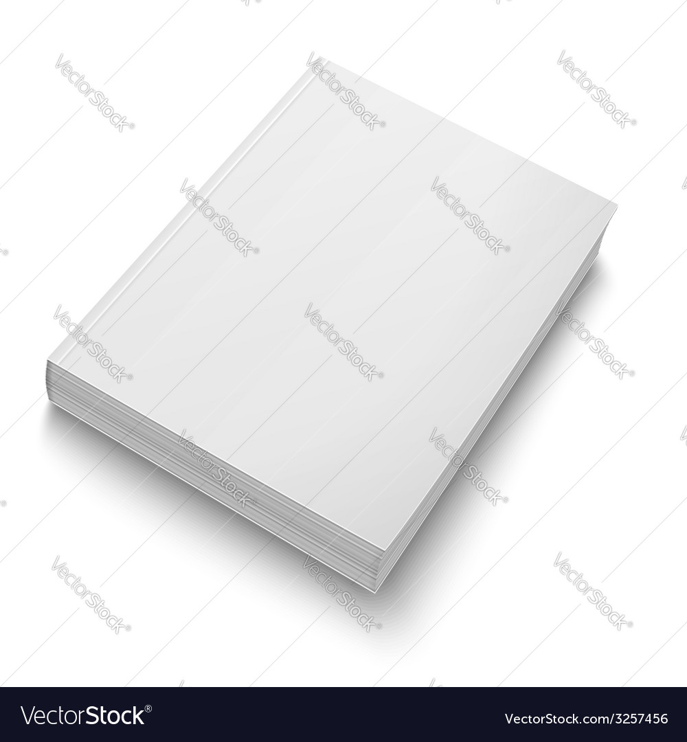 blank softcover book template on white royalty free vector