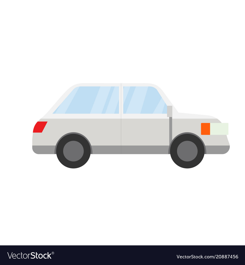 Flat grey car design