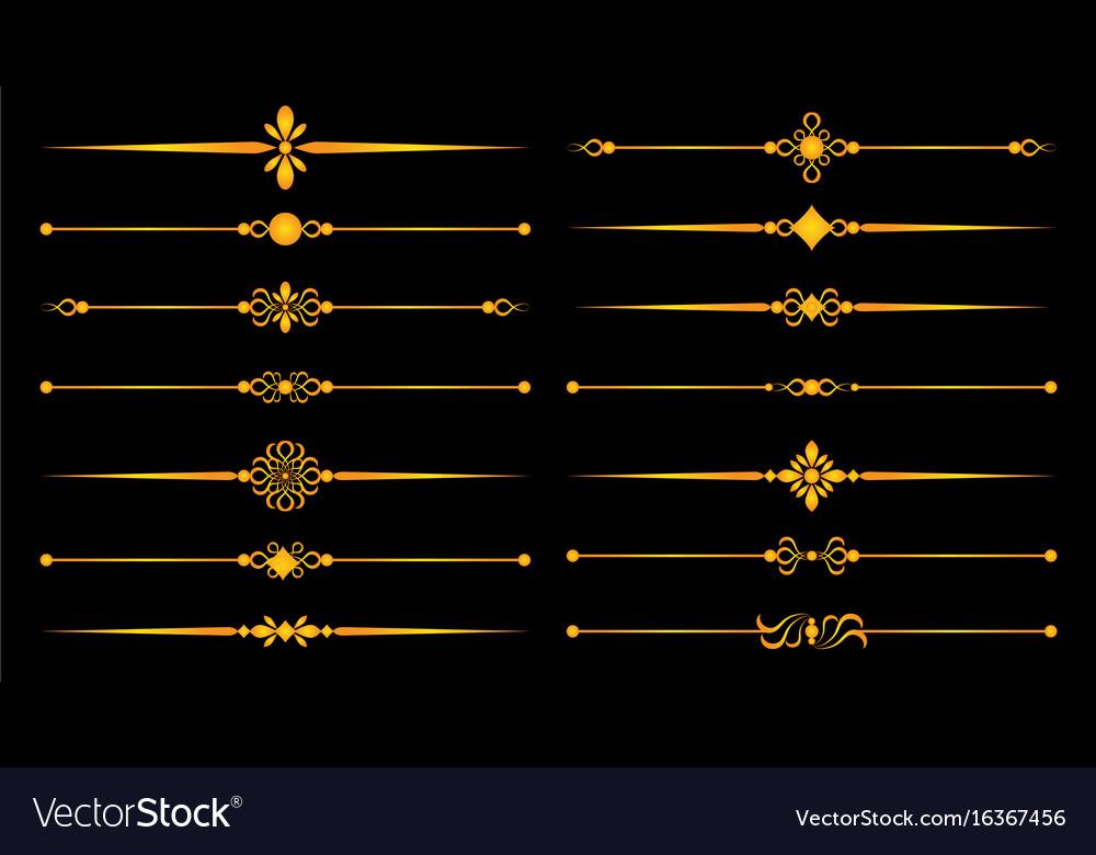 Gold ornaments lines