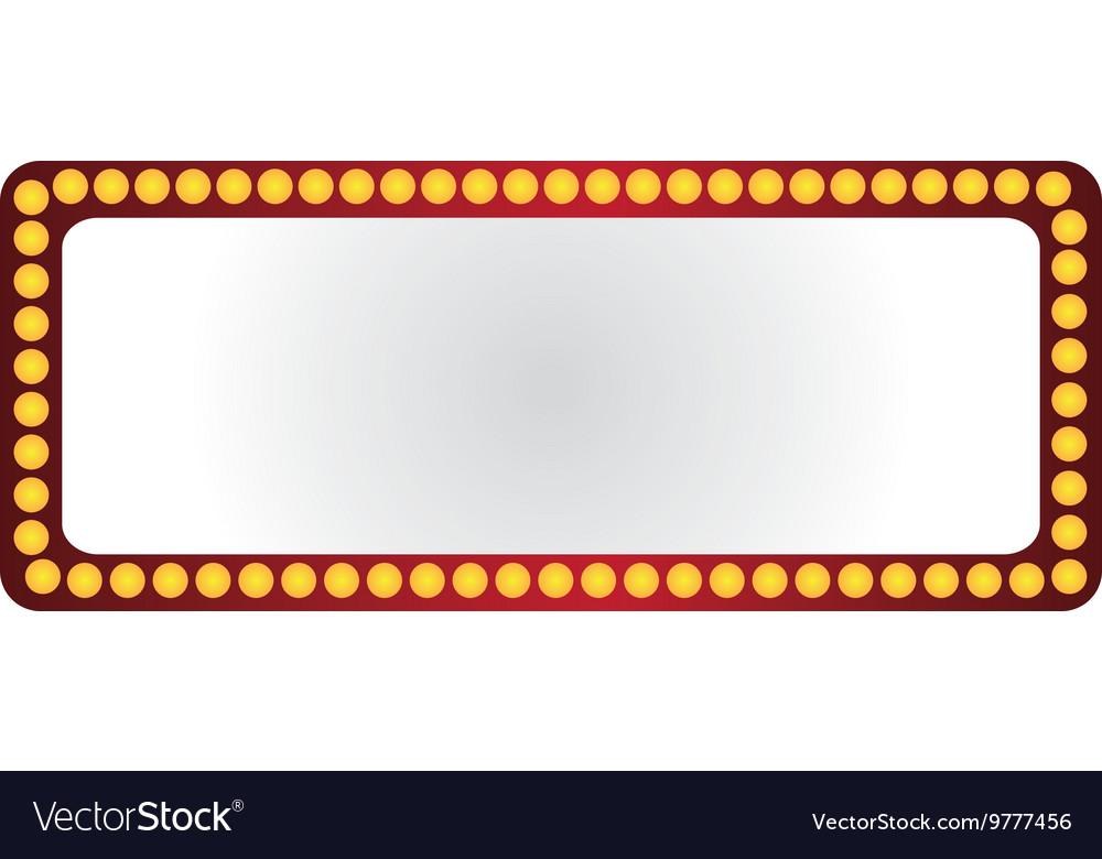 Lightbulb frame icon Royalty Free Vector Image