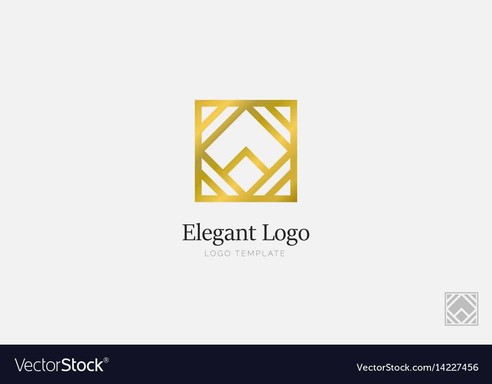 Minimalistic elegant logo luxury emblem template