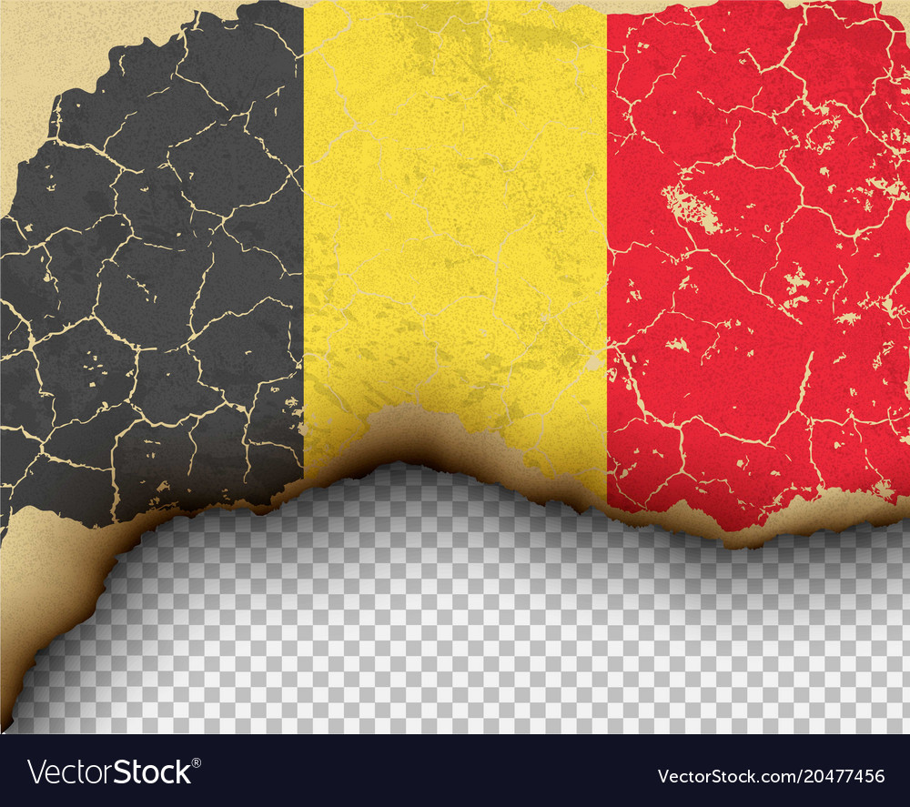 Ripped belgium flag country torn paper burning