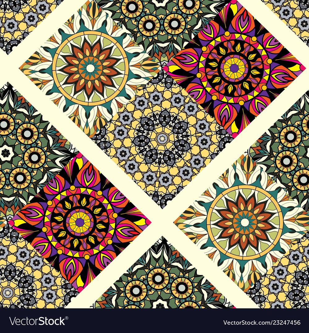 Seamless repeating mandala background