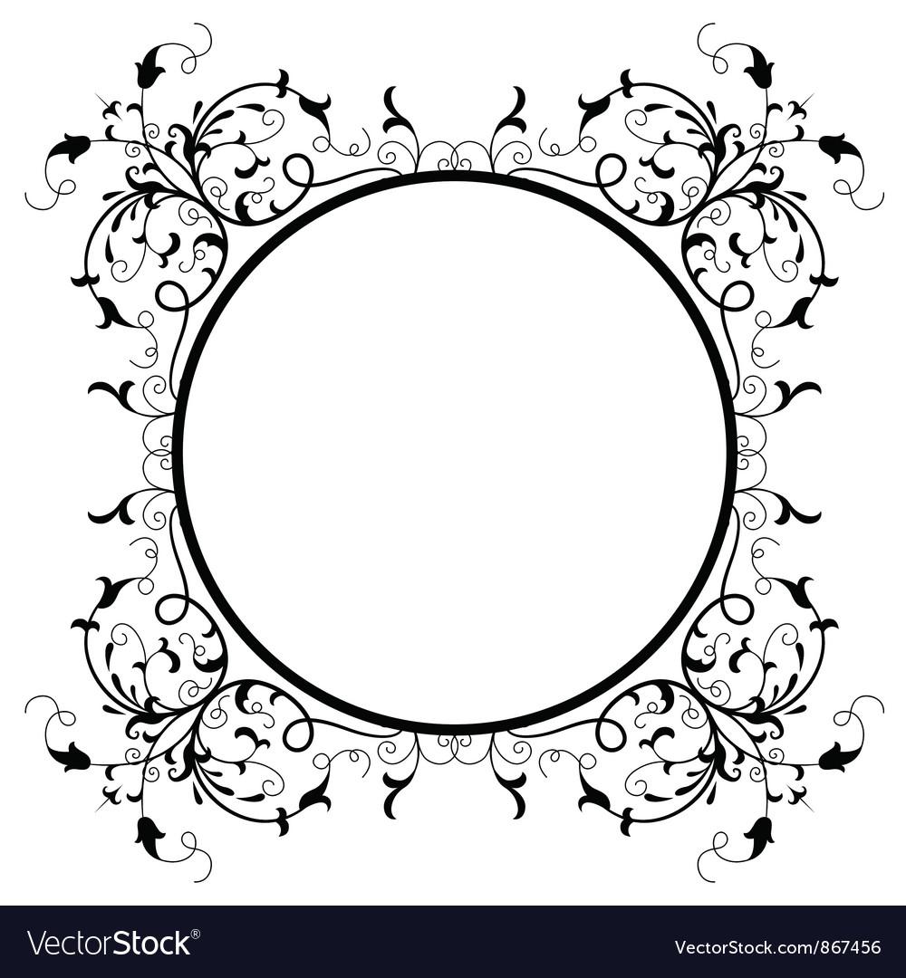 vintage floral frame royalty free vector image rh vectorstock com vintage frame vector cdr vintage frame vector free download ai