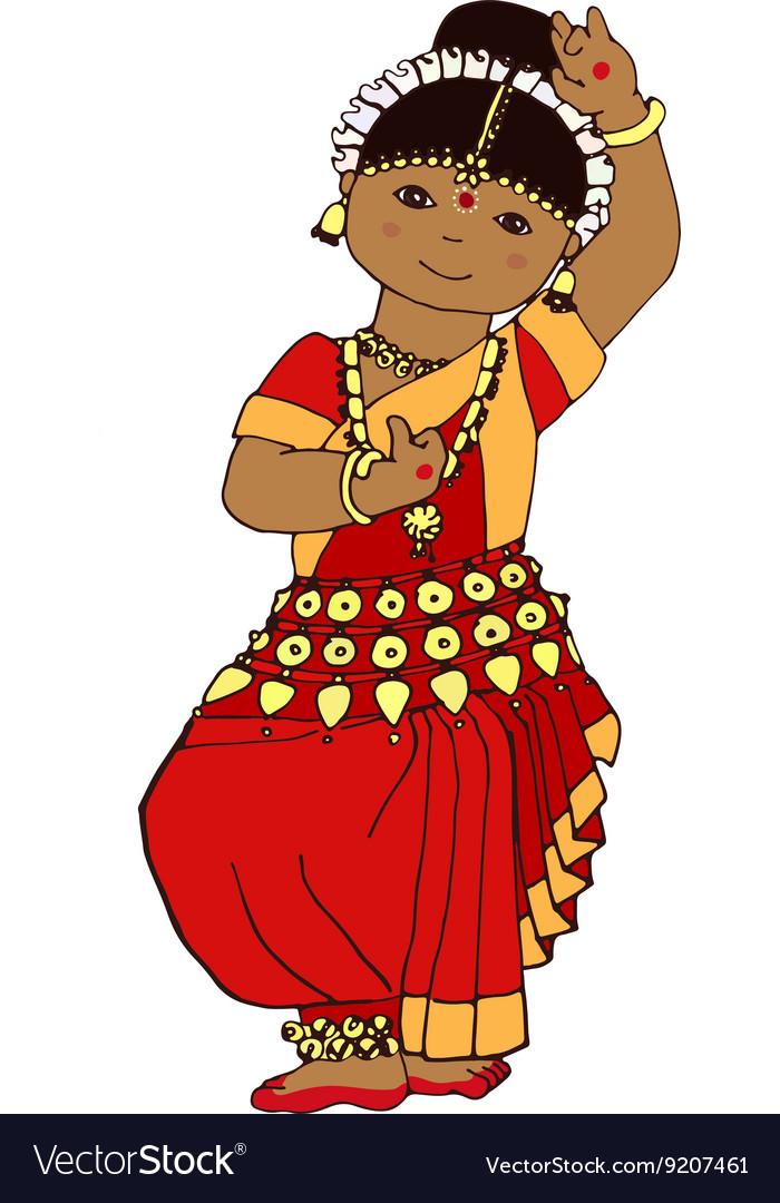 Cute dancing Indian girl