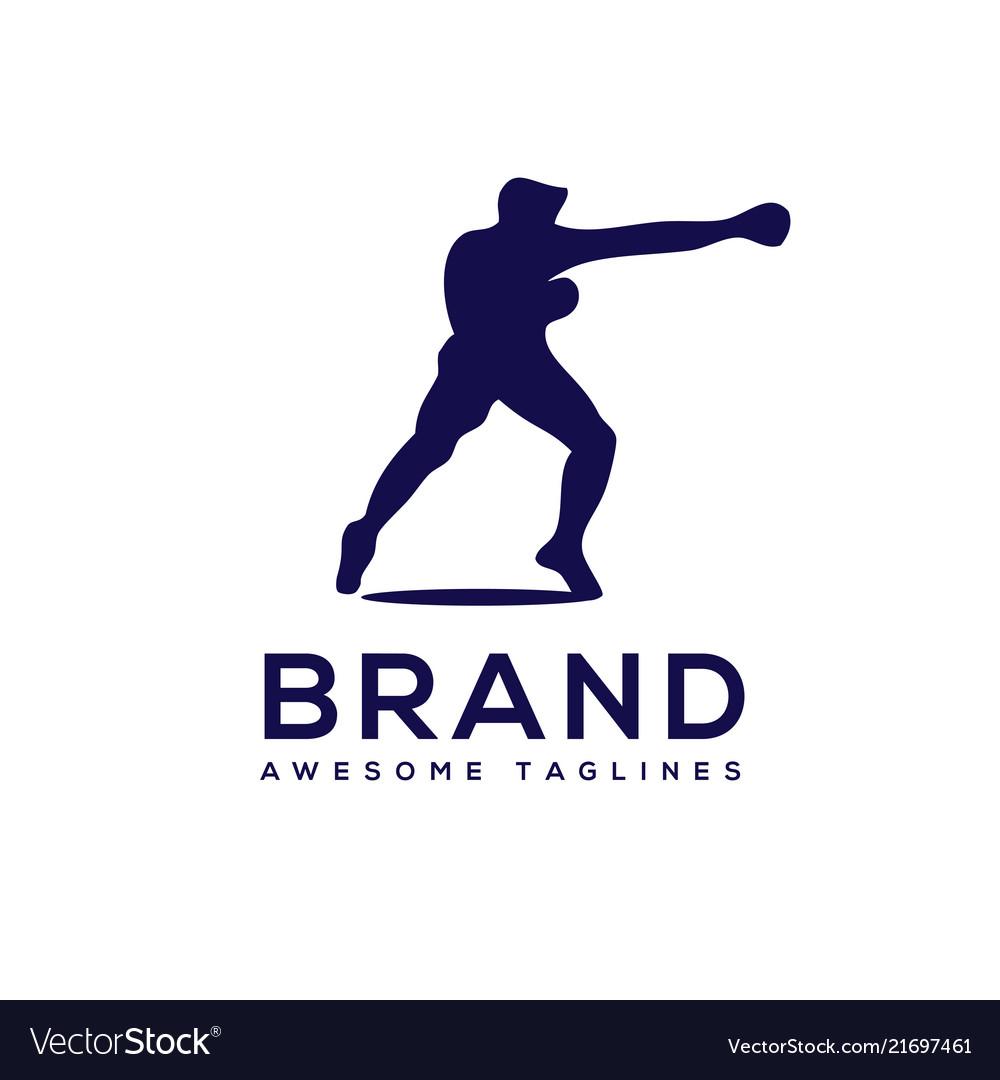 Silhouette boxing club logo