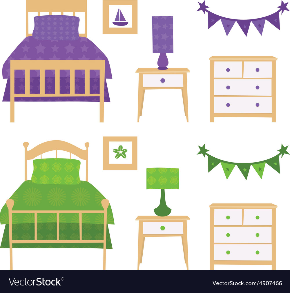 Children Bedroom Furniture Set