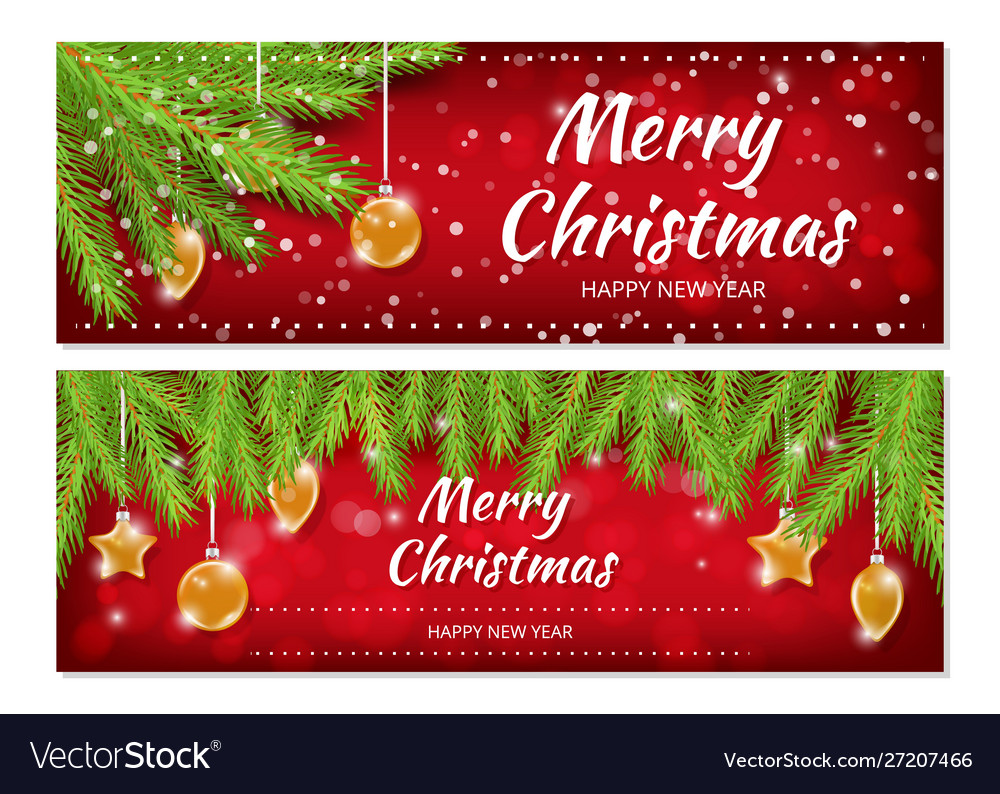 Christmas banners x-mas new year flyers template