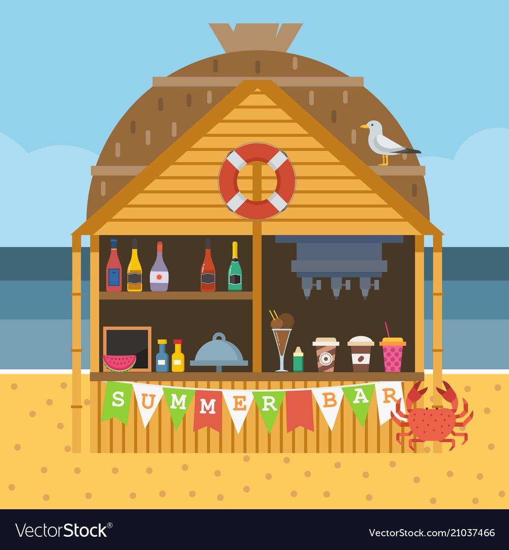 Exotic beach bar