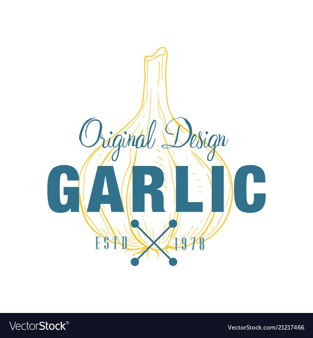 Garlic logo original design estd 1978 culinary
