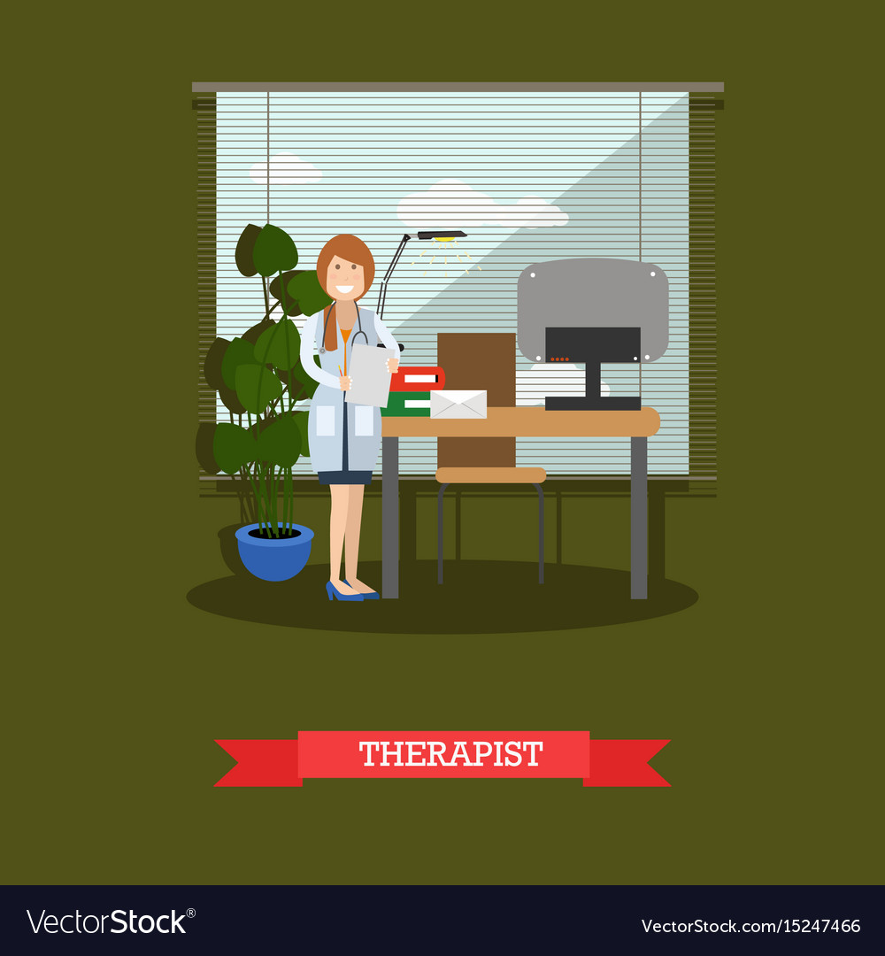 Therapist concept in flat