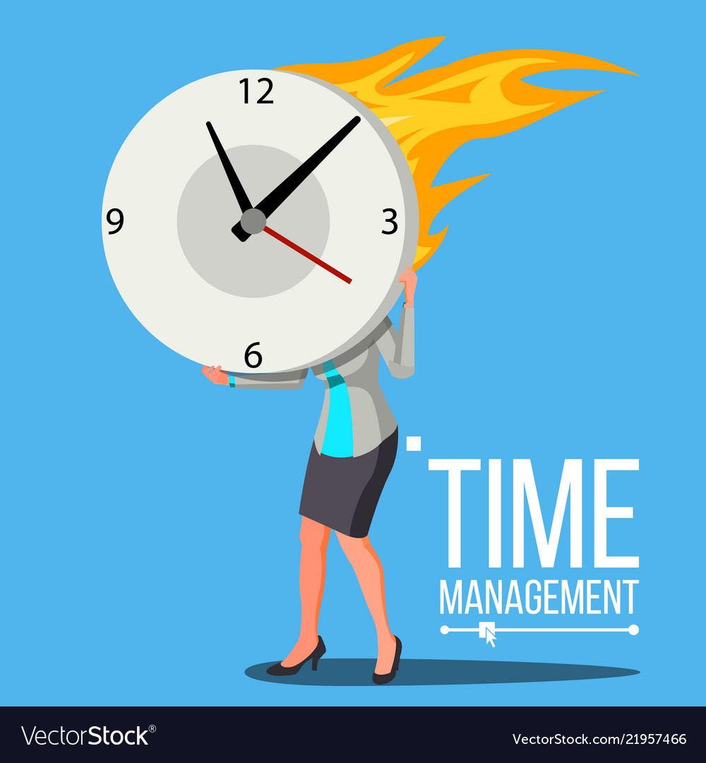 Time management woman free time control