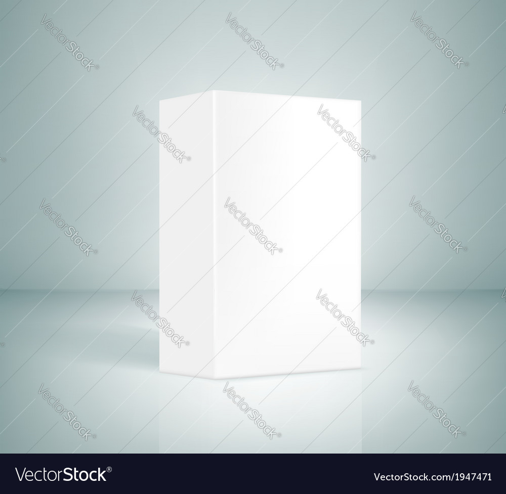 Blank White Box vector image