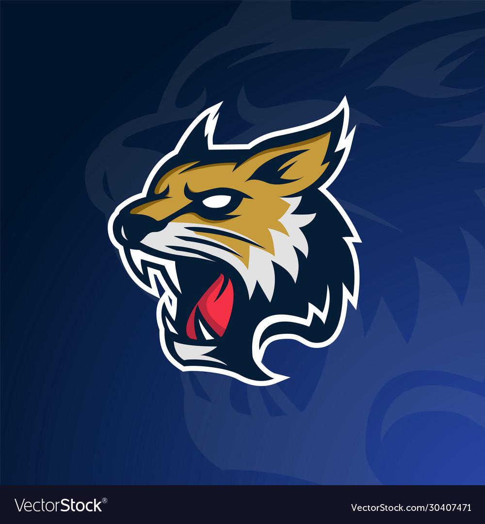 Bobcat-lynx wildcat logo mascot for sport team