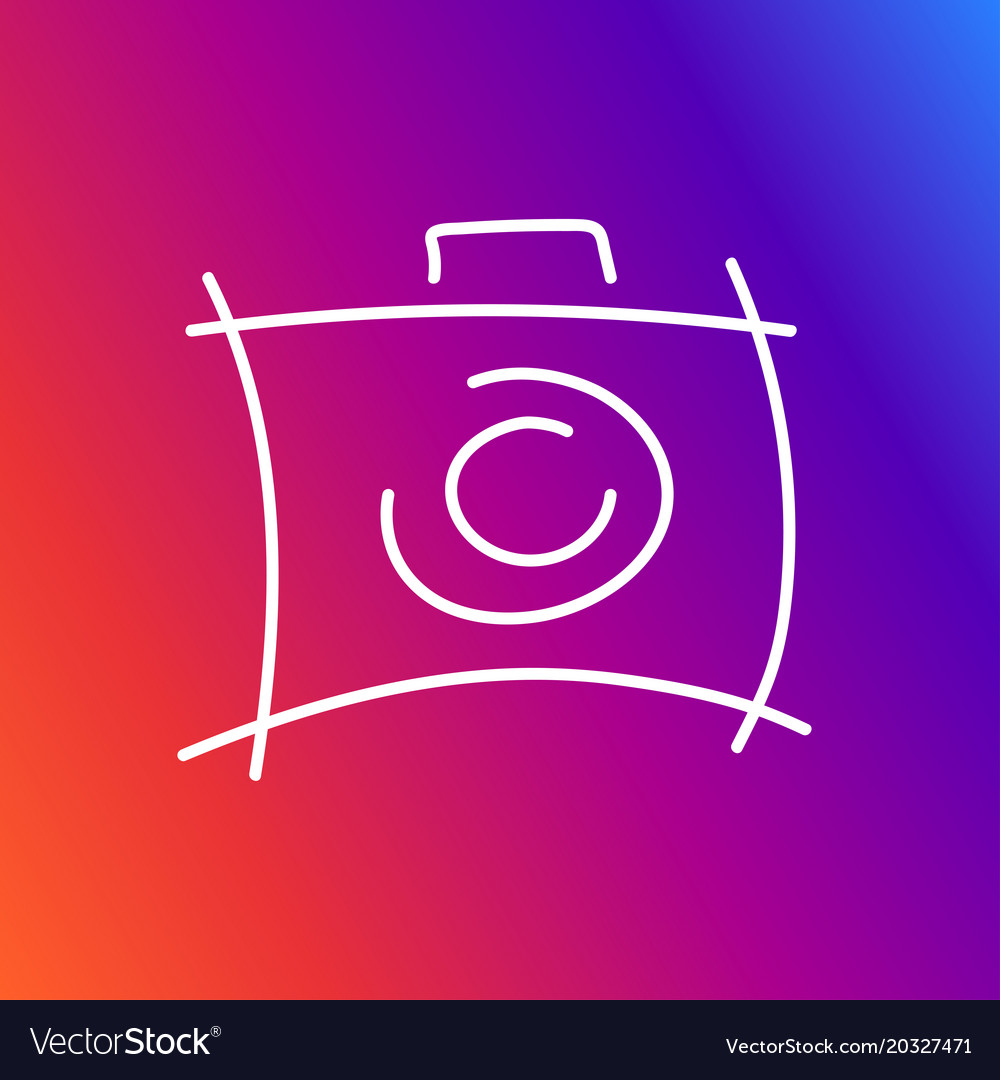 Camera icon depicted in an unusual style as if