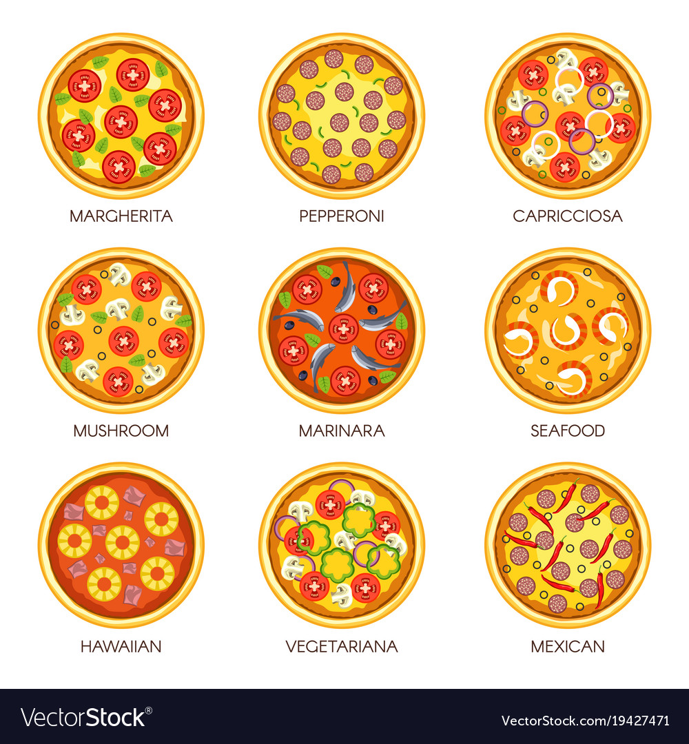 Delicious pizzas with various fillings and flavors