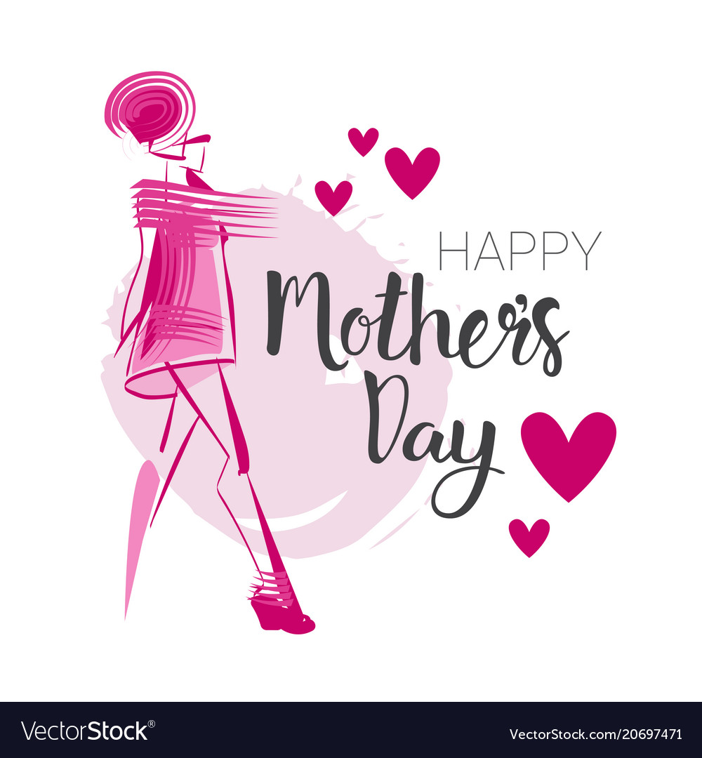 Happy Mothers Day Background Holiday Greeting Card