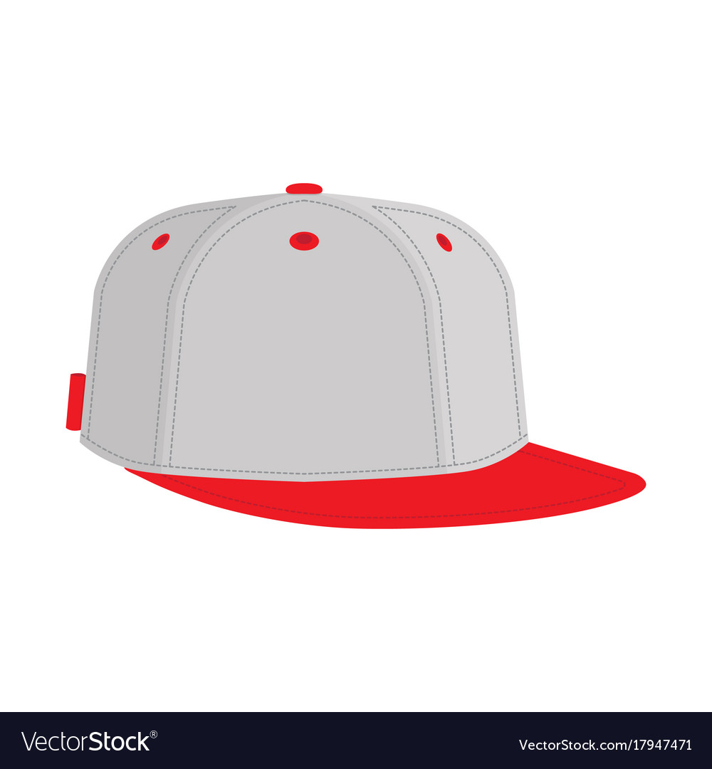 9a8fbf68df6 Hip hop or rapper baseball cap Royalty Free Vector Image