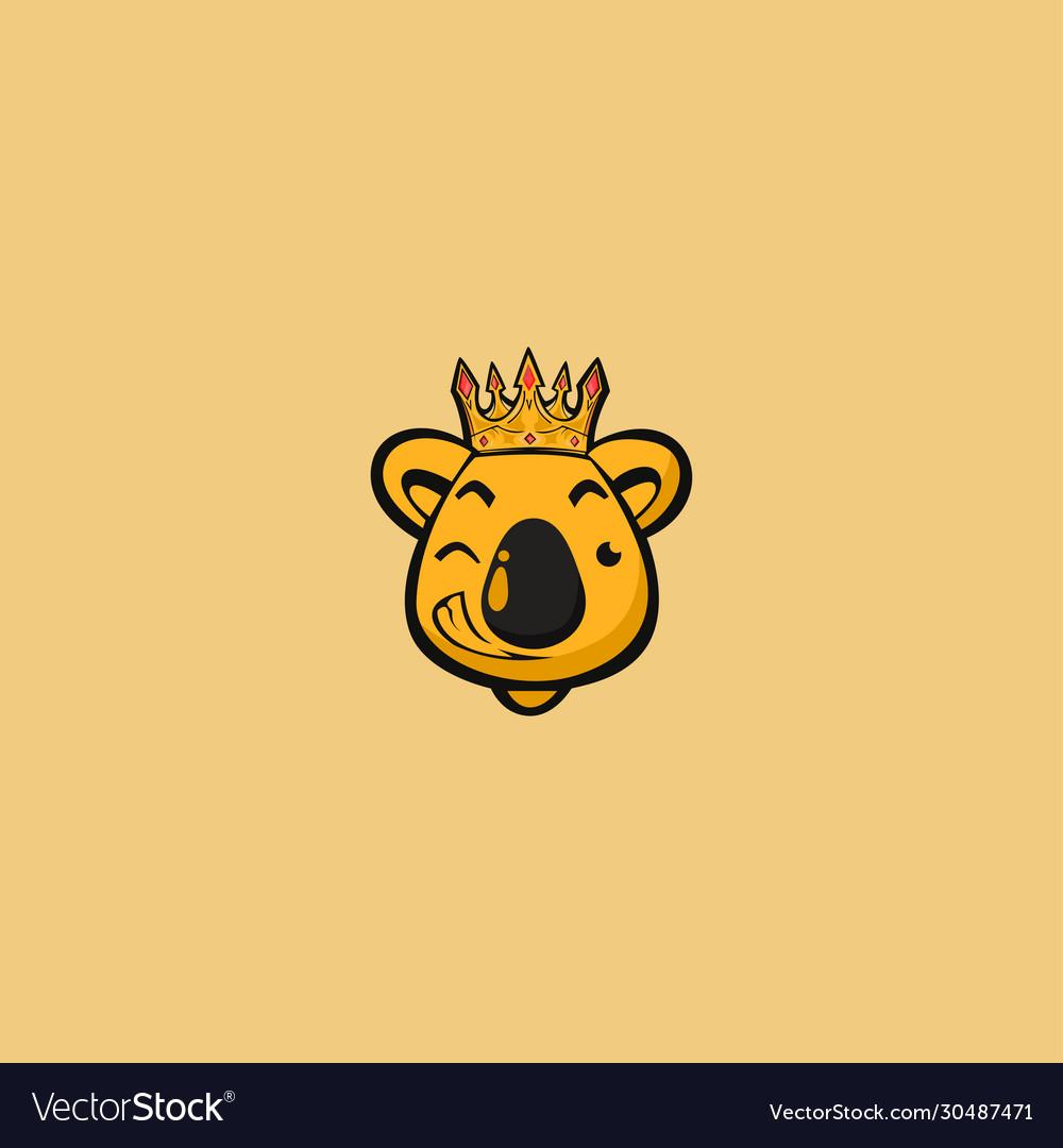 King koala mascot logo