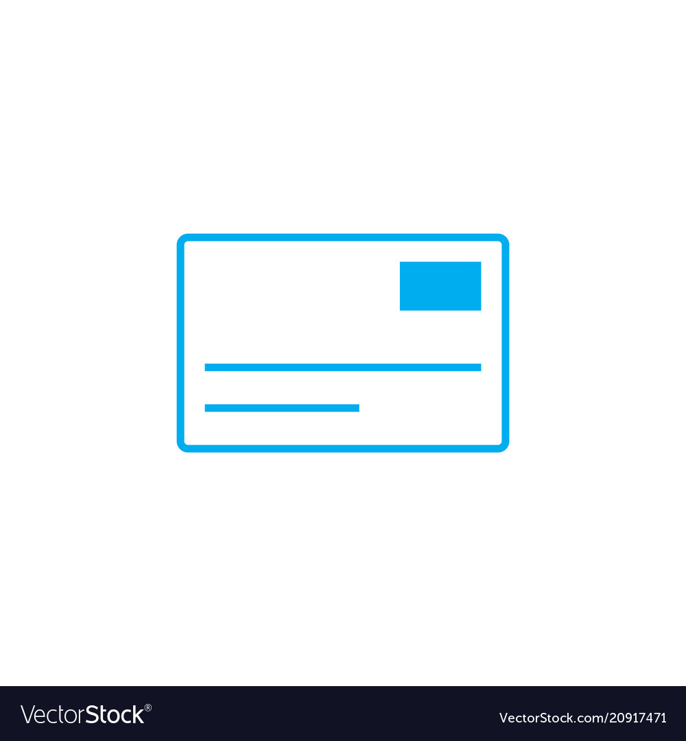 Letter linear icon concept letter line