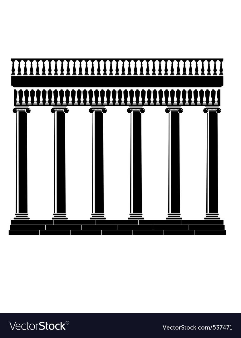 Portico colonnade vector image