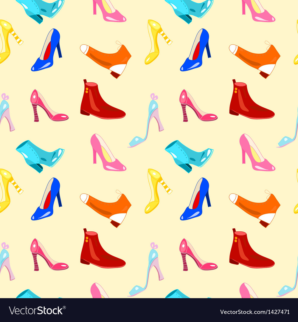 Retro seamless pattern with shoes