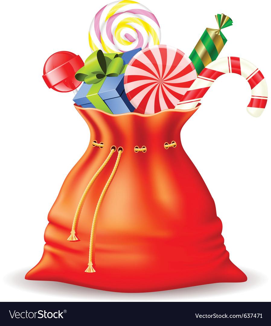 Santas sack with gifts