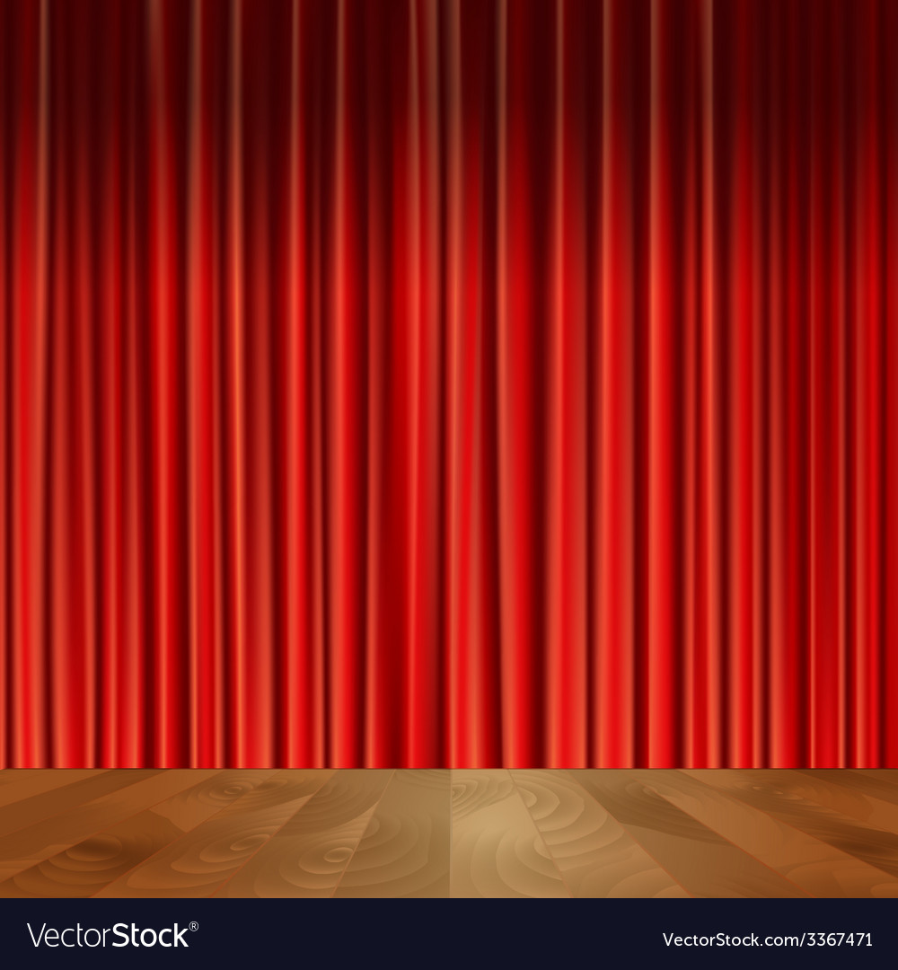 Theater Curtains Background Royalty Free Vector Image