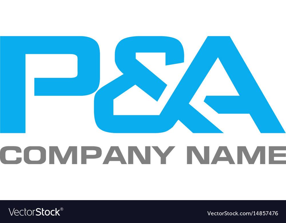 Pa letter logo design template