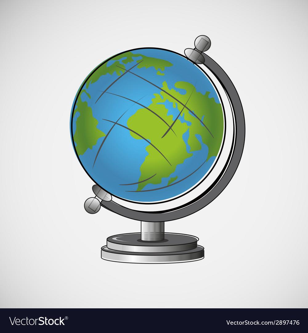 School globe on a light background vector image