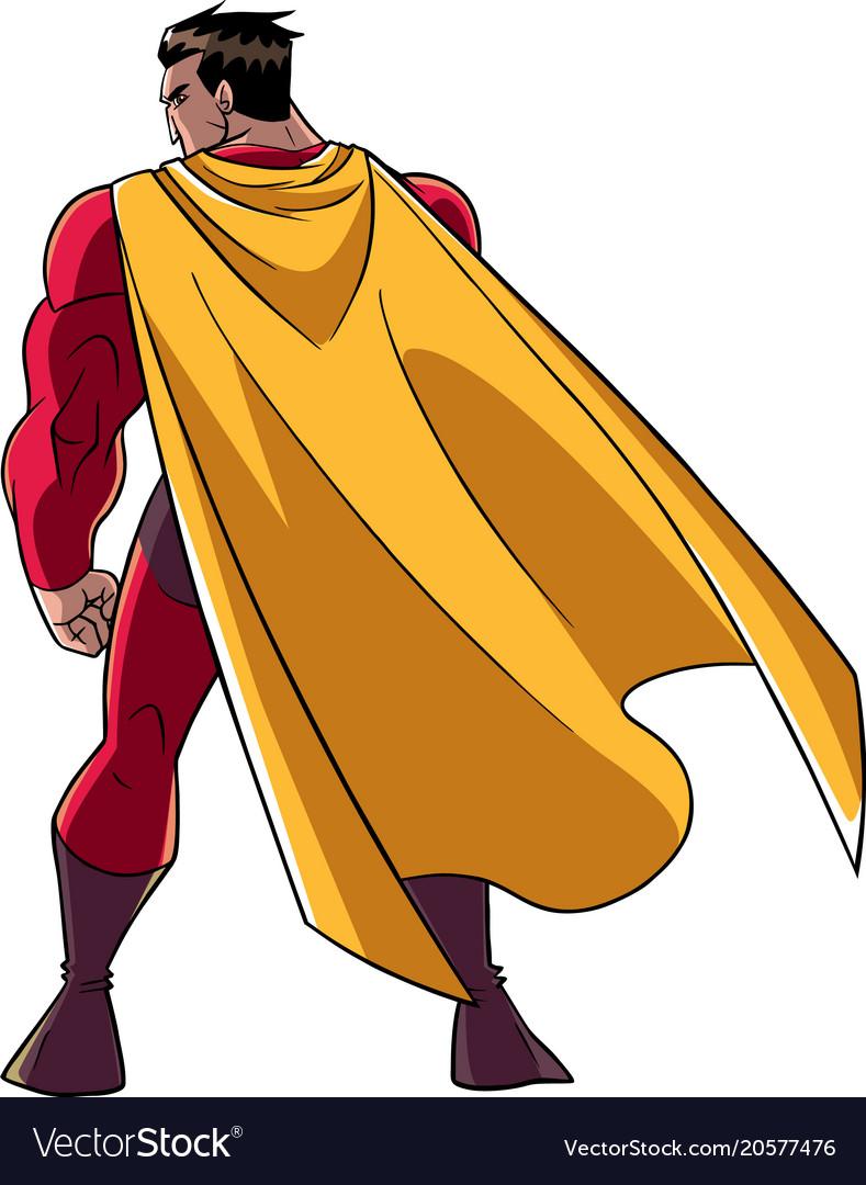 Superhero battle mode back vector image