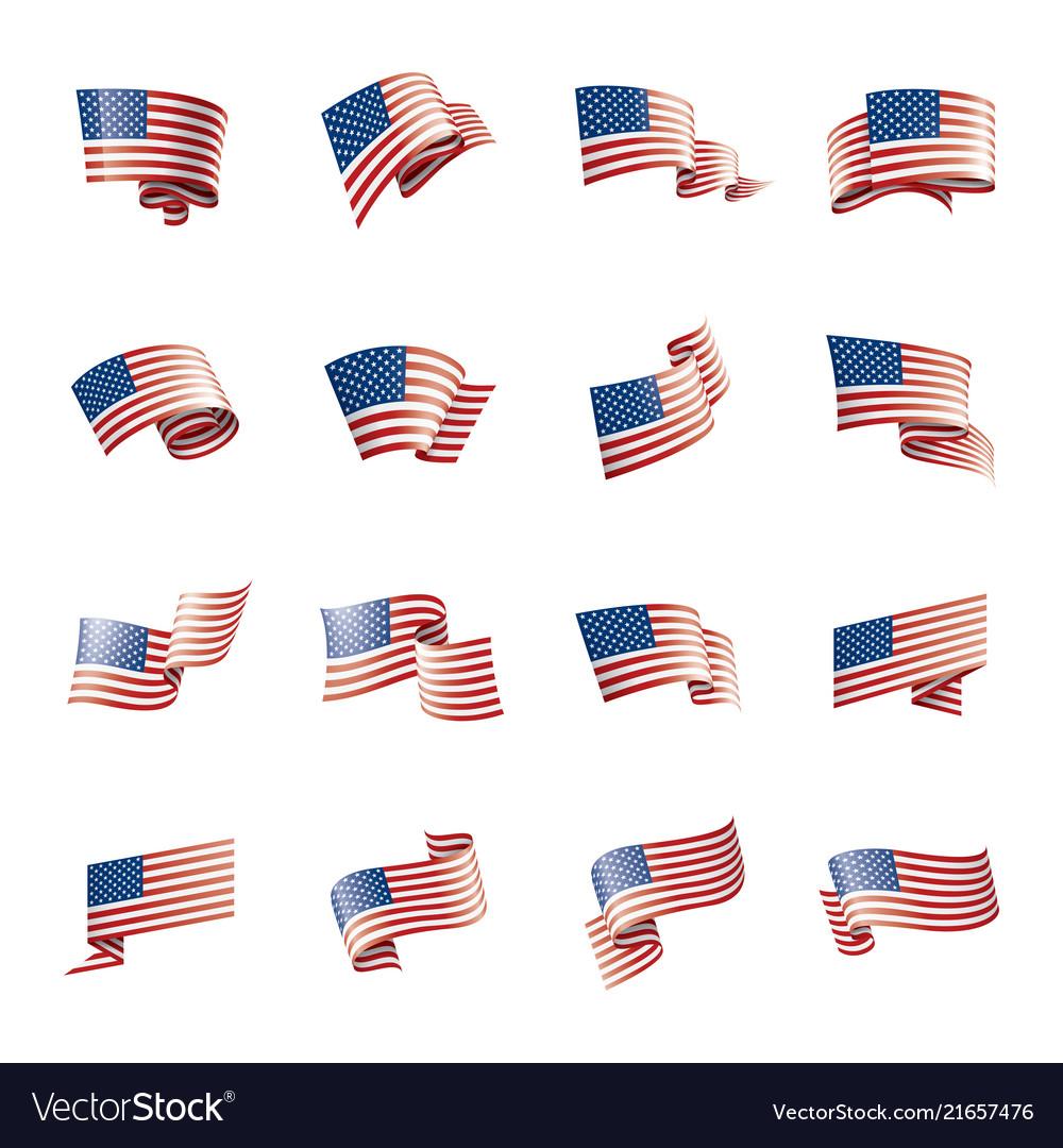 Usa flag on a white