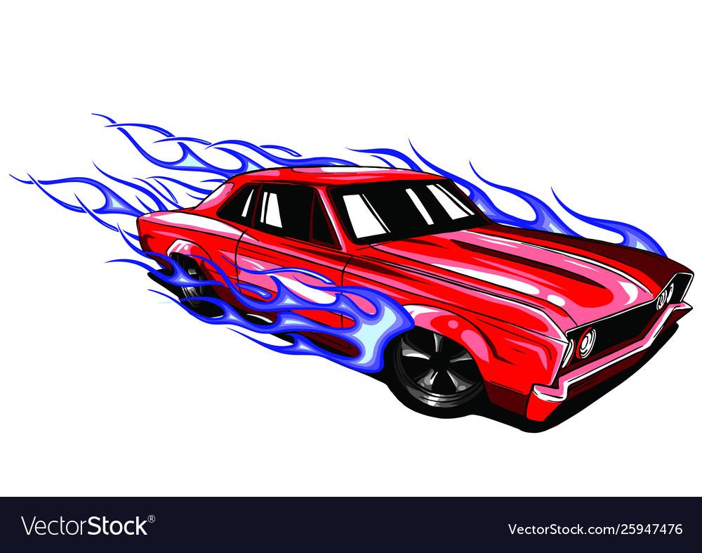 Vintage car hot rod garage hotrods carold