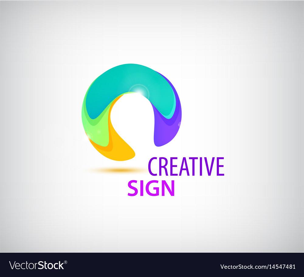 Abstract colorful circle logo company