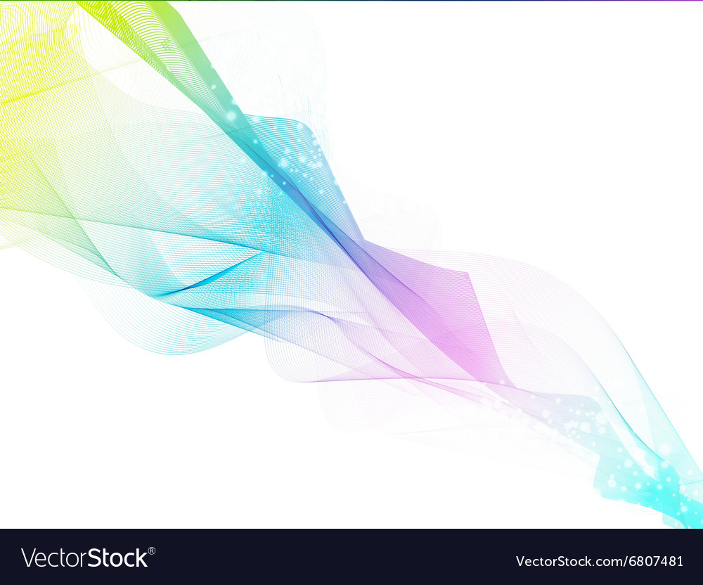 Abstract Multicolored Fume vector image
