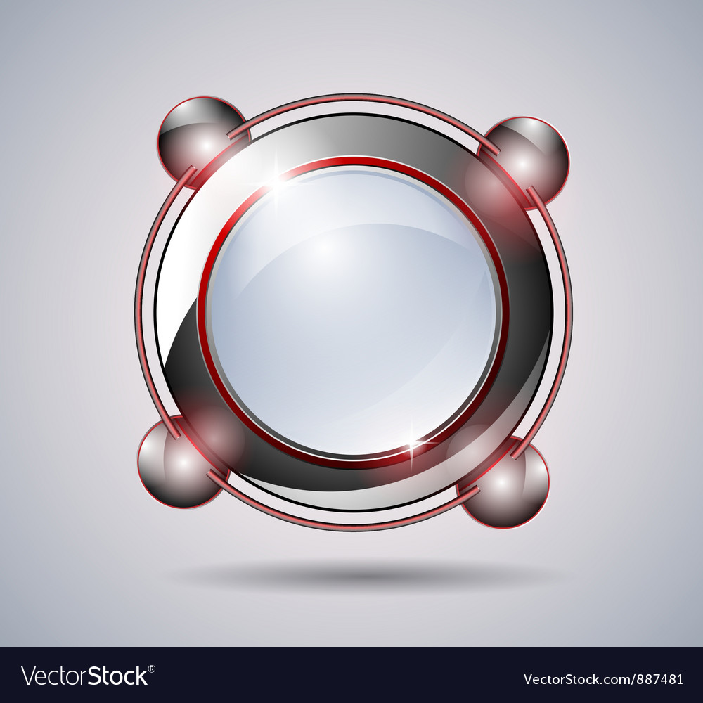 Abstract technology glass banner vector image