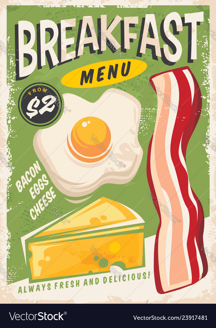 Breakfast menu promo ad design