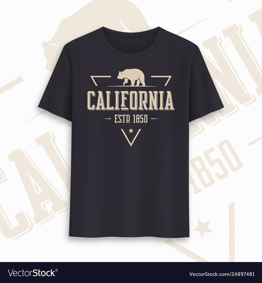 California state graphic t-shirt design
