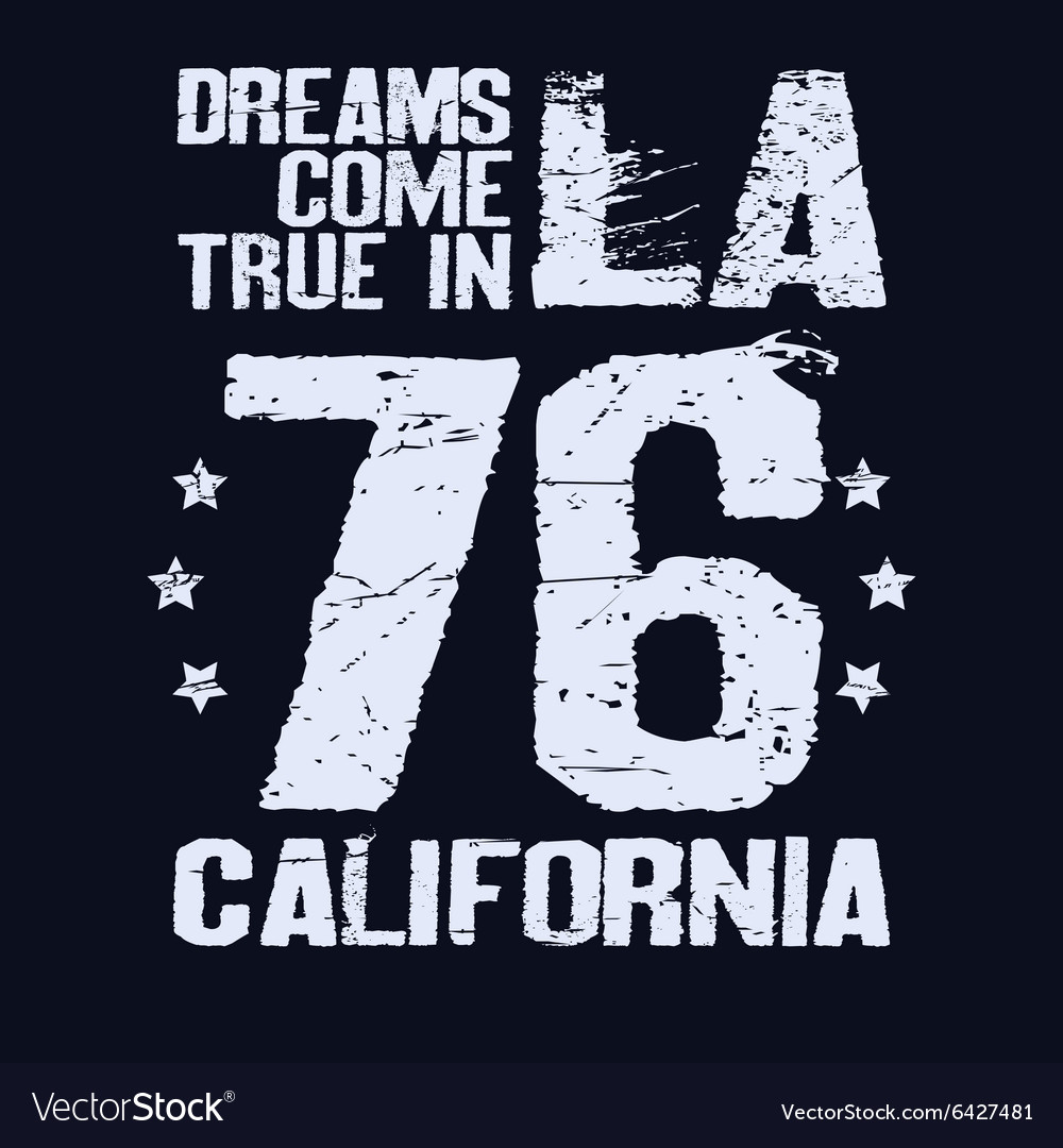 California T-shirt fashion Typography