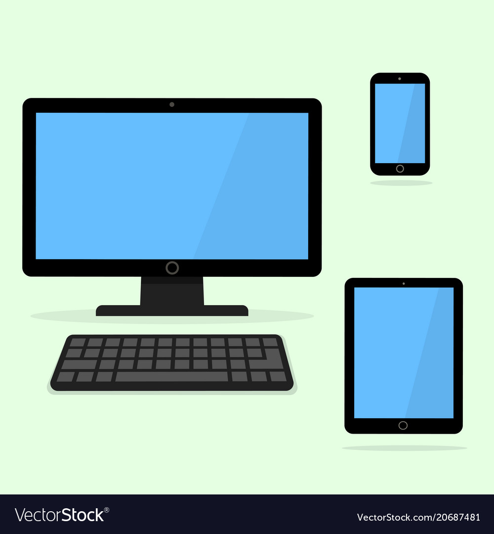 Devices icon black laptop tablet and smart phone