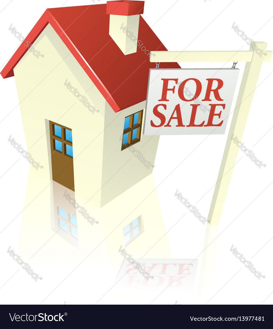 House for sale graphic vector image