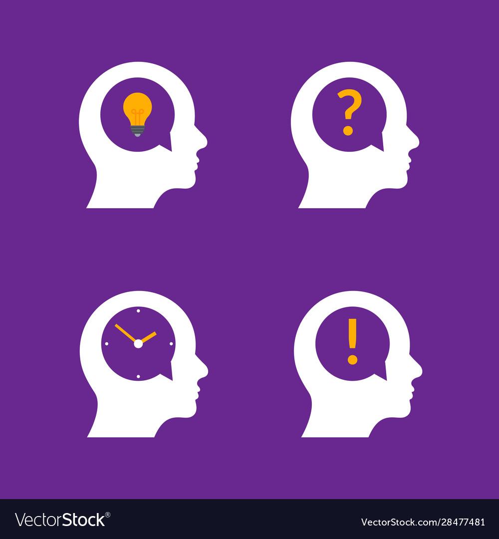 Human head brain idea profile person business