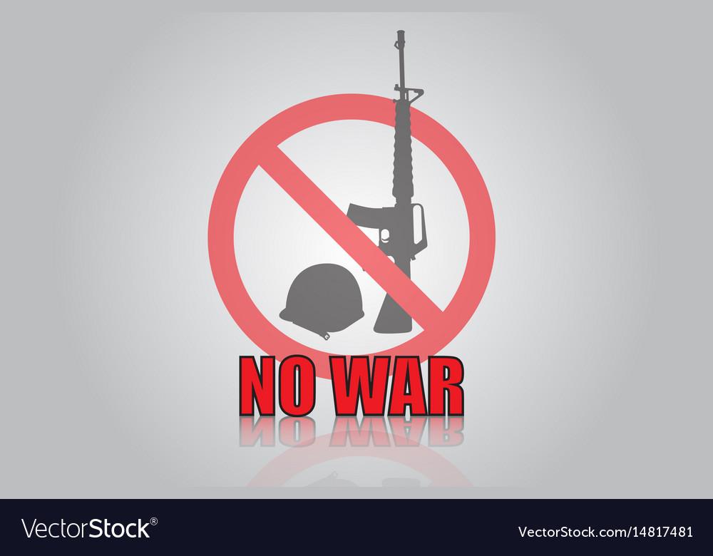 No war icon design