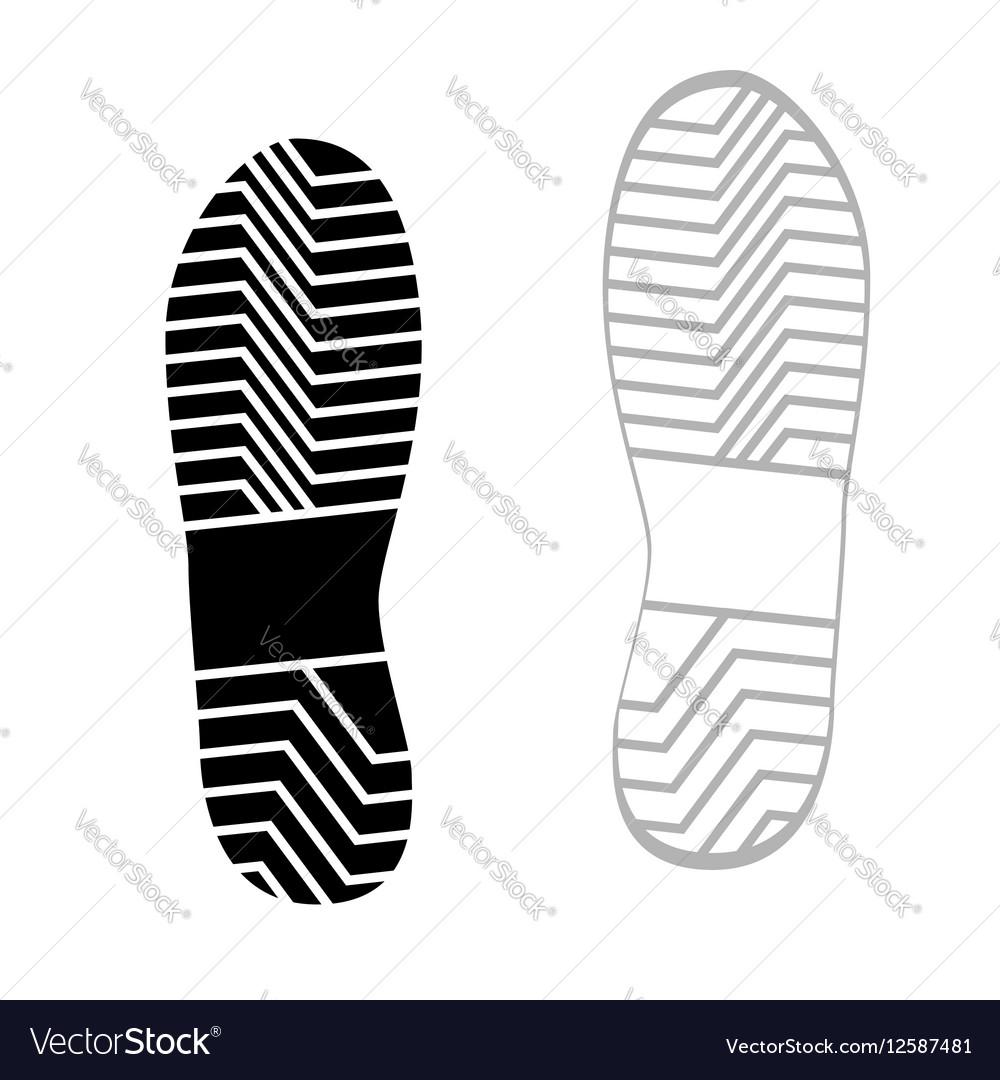 Prints rough shoe flat style vector image